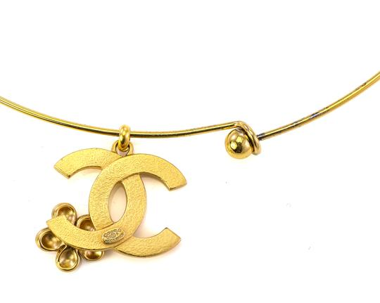 Chanel Chanel CC flower charm bangle necklace. Image 4