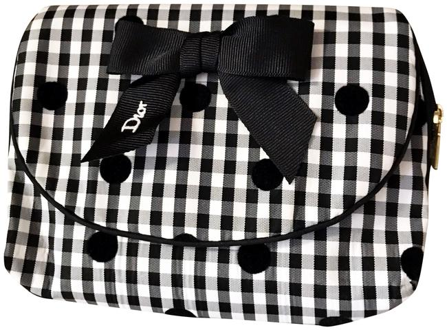 Item - Black and White Rare Gingham / Pouch / Organizer Cosmetic Bag