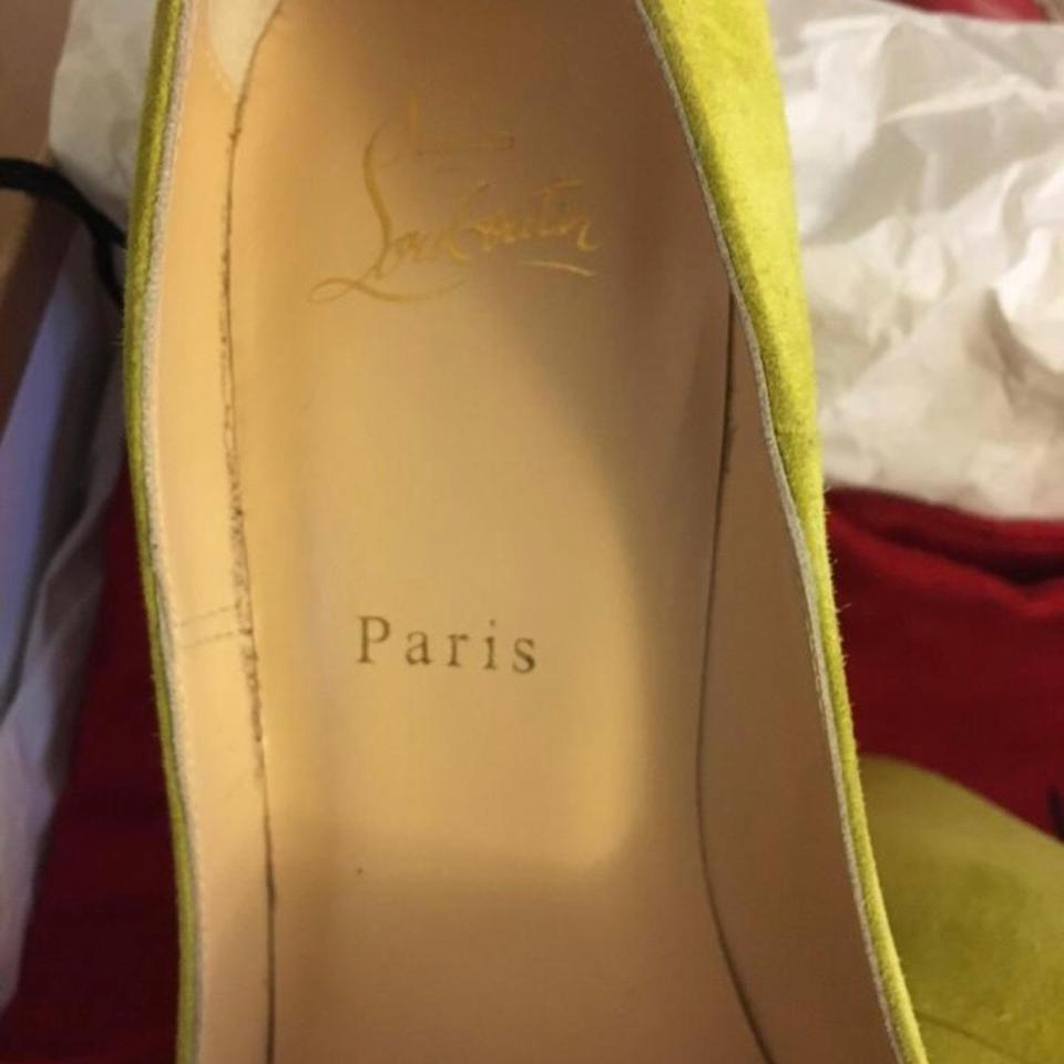 84ce9f46647 Christian Louboutin Yellow/Lime So Kate Suede Heels Pumps Size US 7 Regular  (M, B) 55% off retail