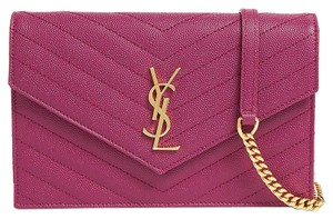 Saint Laurent Envelope Crema White Monogram Ysl Cross Body Bag