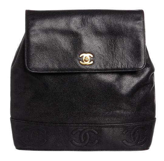 Chanel Backpack Vintage Cc Black Caviar Leather Backpack - Tradesy f91745c1b712f