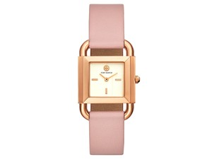 Tory Burch ROSEGOLD PHIPPS WATCH, PINK LEATHER, 29 X 42 MM