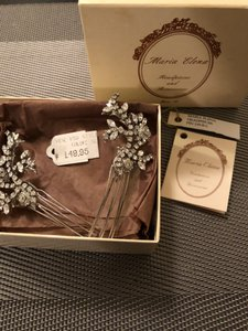 Maria Elena Headpieces Silver Hair Accessory