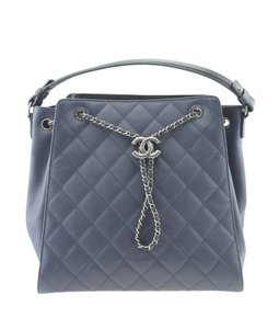 Chanel Leather Adult Italy Imperfection Tote in Blue 9b3d36e3ea86b