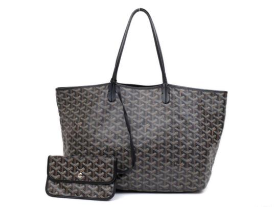 Preload https://img-static.tradesy.com/item/24984633/goyard-chevron-st-louis-with-pouch-234427-black-coated-canvas-tote-0-0-540-540.jpg