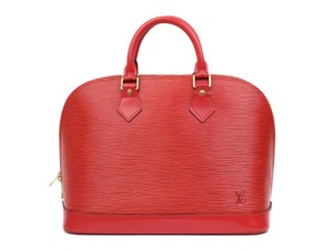 Louis Vuitton Amal Speedy Boston Lockit Cluny Satchel in Red