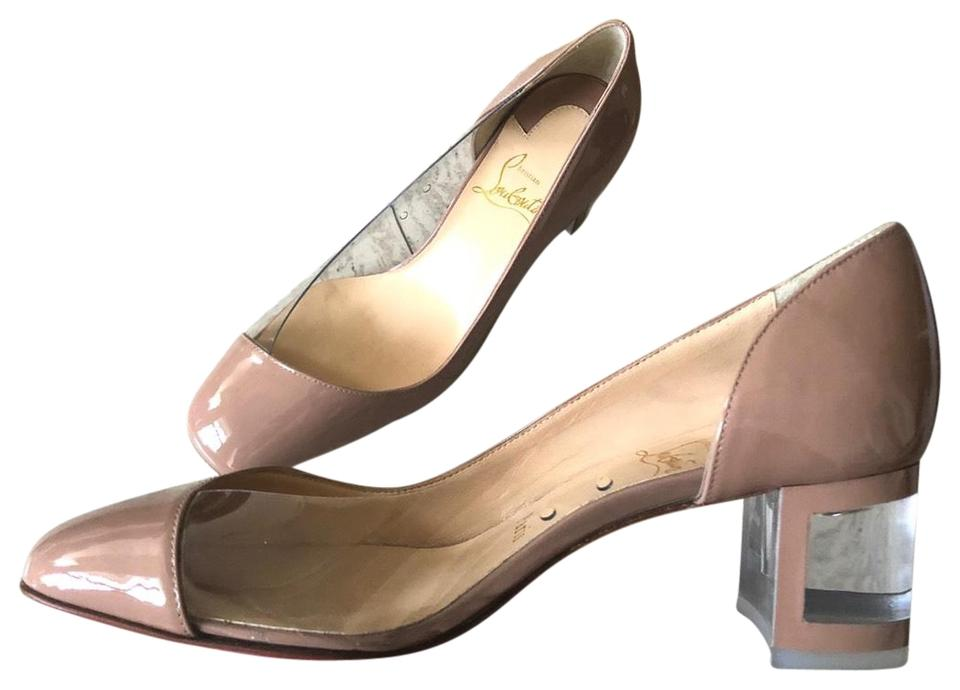 f0bde8d4bd5 Christian Louboutin Nude Provisore 55 Patent Pvc Middle Pumps Size EU 35.5  (Approx. US 5.5) Regular (M, B) 35% off retail