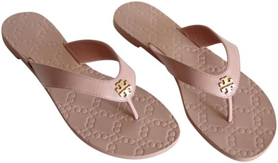 531f49d6d79 Tory Burch Beige Monroe Leather Thong Light Makeup Sandals Size US 8 ...
