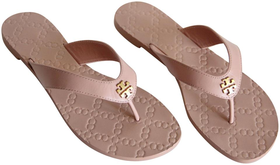 a072ecd7dac Tory Burch Beige Monroe Leather Thong Light Makeup Sandals Size US 8 ...