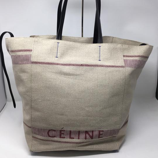 Céline Cabas Phantom Large Natural Canvas Tote - Tradesy b588c57d8e04c