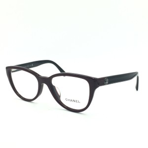 2b9596f3398 Chanel Chanel Cat Eye Burgundy and Black 3315-A c.1237 RX Eyeglasses
