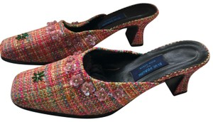 Rita Stein multi color, pinks, yellows, greens, blues Mules