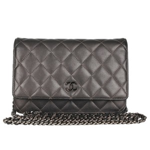 bbc12537d467 Chanel Wallet On A Chain Caviar Silver Hardware Classic Cross Body Bag