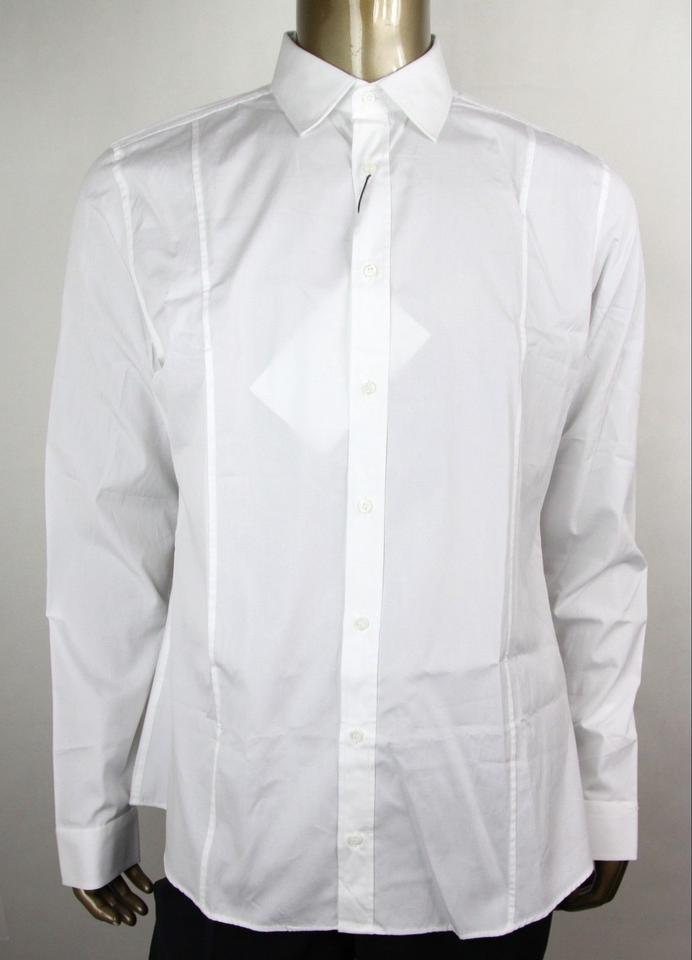 562f1b8e0 Gucci White Men's Cotton Slim Dress 42/16.5 269070 21131 9000 Shirt ...