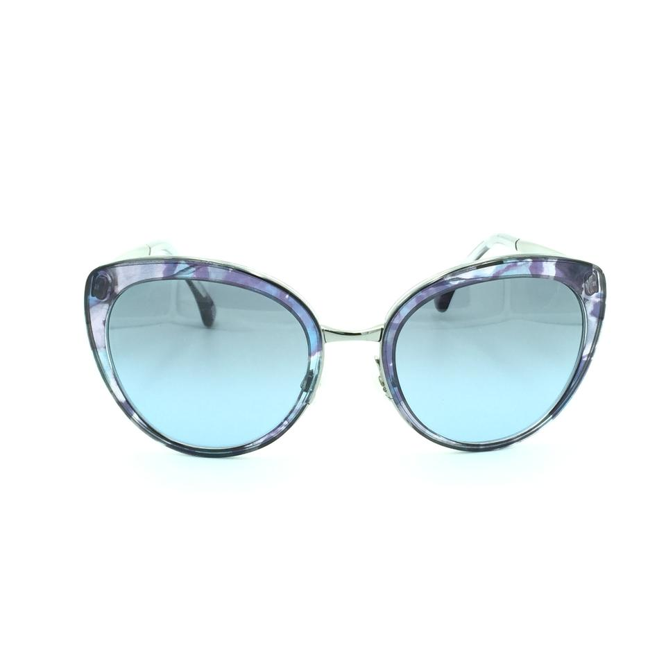 278a561f1f Chanel Chanel Emerald Blue   Silver Cat Eyed Sunglasses 4208 465 S2 Image 0  ...