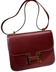 aaeaa72d79 Hermès Constance Rare 24 Gold Hardware Rouge Leather Cross Body Bag ...