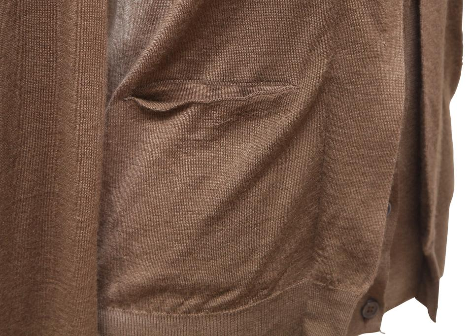 a77800d6272 Marni Brown Sweater Knit Ombre Cashmere Silk V-neck 38 Cardigan Size 4 (S)  65% off retail