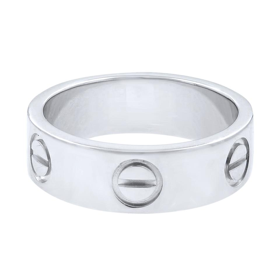 f484c7dc6f9e Cartier White Gold Love 5.5mm Wide Band Size 49 Ring - Tradesy