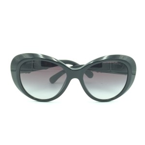 Chanel Chanel Black Floral Leathered Oversized Sunglasses 5318-Q 501/S8