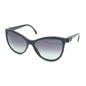 Chanel Cat Eye Black Bow Gray Gradient Sunglasses 5281Q 501/S6