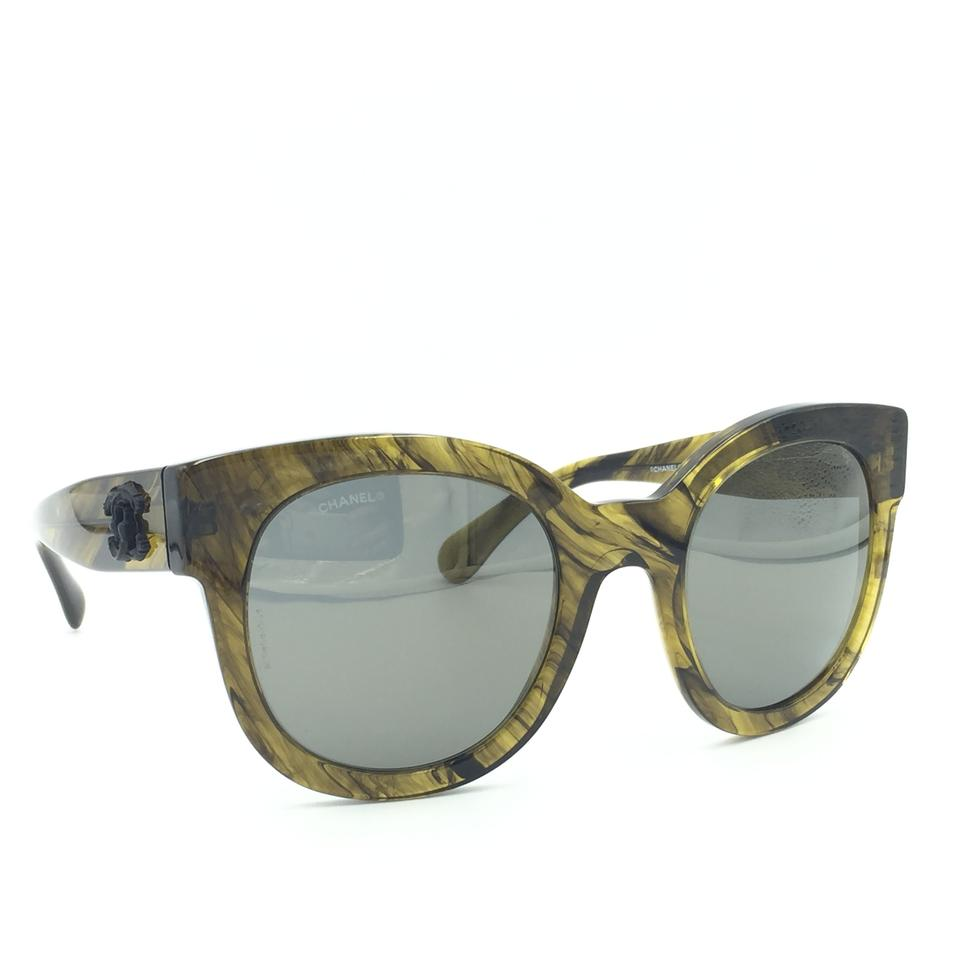 94cce85d3330a Chanel Oversized Cat Eye Green Olive Bronze Mirror 5358 1568Y9 Sunglasses  Image 9. 12345678910