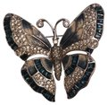 Judith Leiber enamel and crystals butterfly