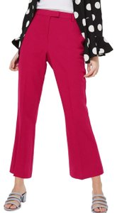 Topshop Flare Pants Red
