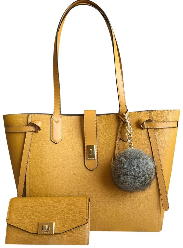75cabc2f9890 MICHAEL Michael Kors Bag Set Yellow Leather Tote - Tradesy