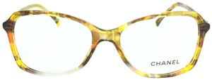 Chanel Chanel Square Havana Yellow 3336 c.1523 RX Eyeglasses