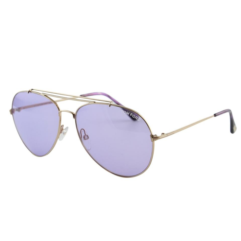 b63f140ac0 Tom Ford New Tf Indiana FT0497 28Y Women Rose Gold Aviator Sunglasses Image  0 ...
