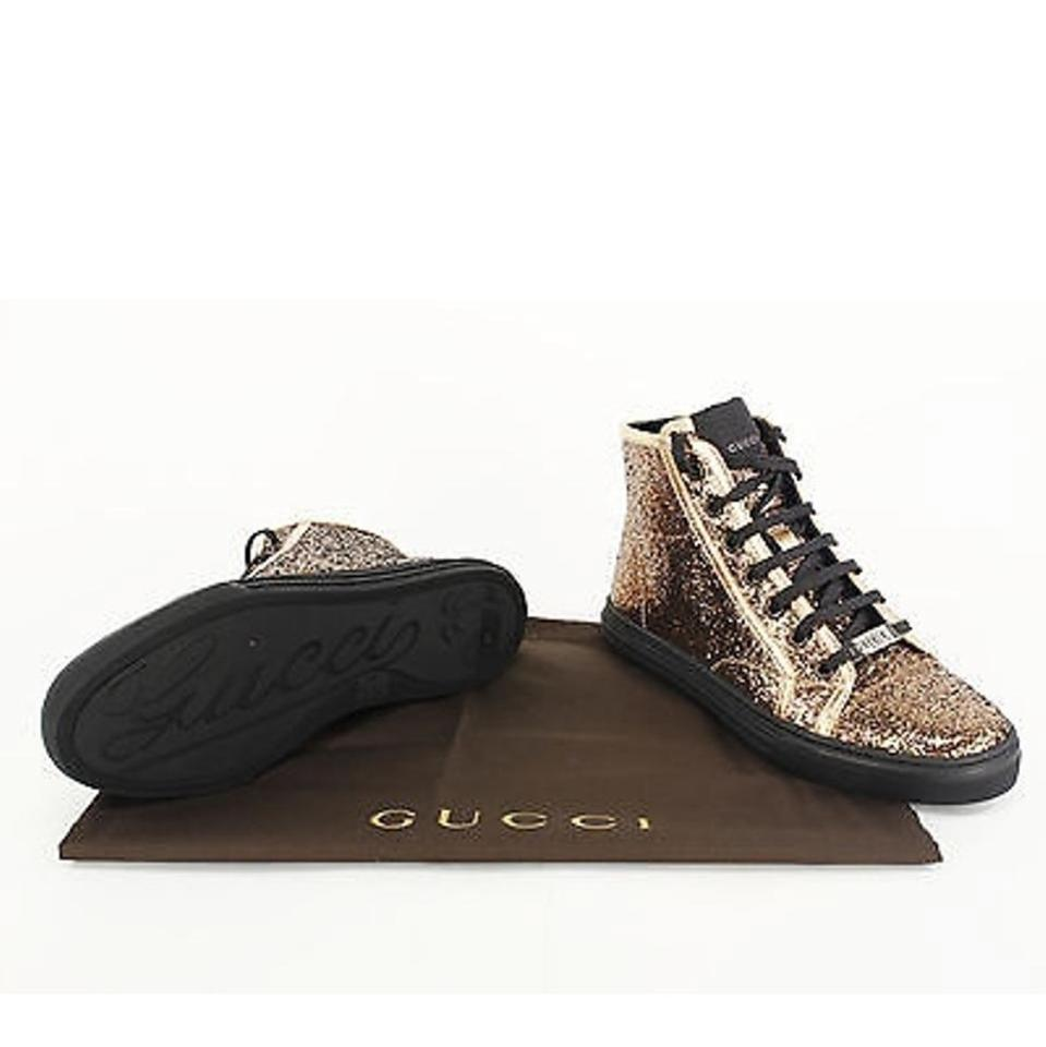 3f1546673eb Gucci Gold Black Glitter California High Top Sneakers Size EU 37 (Approx. US  7) Regular (M