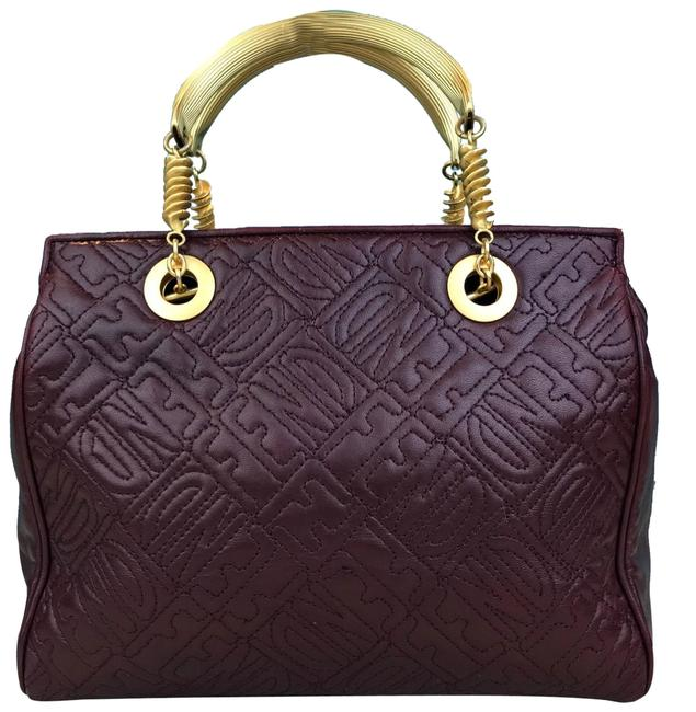 Item - Bag Maroon Embossed Logo Women's Sale Red Lambskin Leather Tote