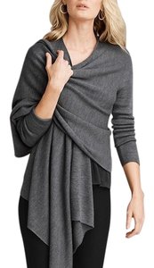 Eileen Fisher Openfront Ribbed Greysweater Cardigan