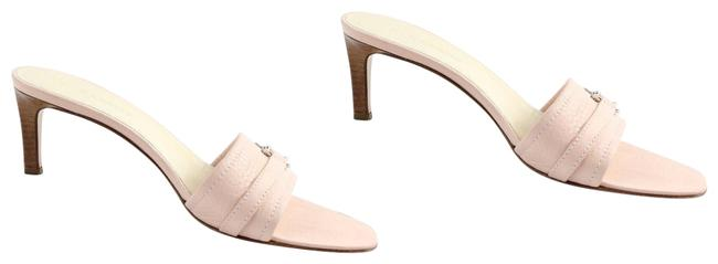 Item - Pink Leather Open Toe Pumps Mules/Slides Size EU 36 (Approx. US 6) Regular (M, B)