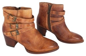 Bed|Stü Boho Leather Buckles Cognac Boots