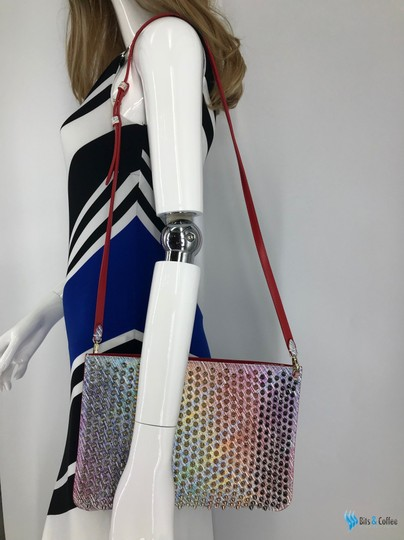 Christian Louboutin Leather Loubiclutch Spikes Multi-Color Clutch