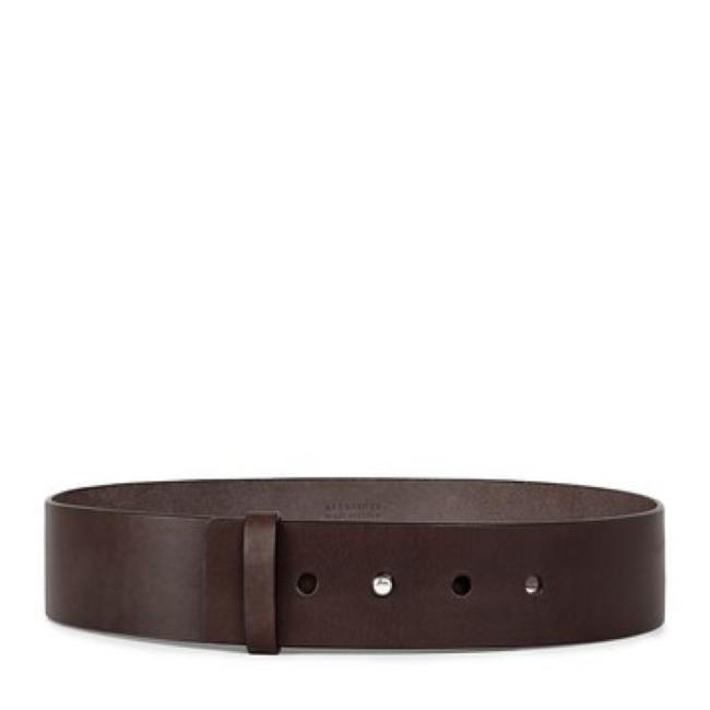 Item - Brown Mimosa Wide Leather Belt