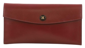Hermès Leather Rouge H red Clutch