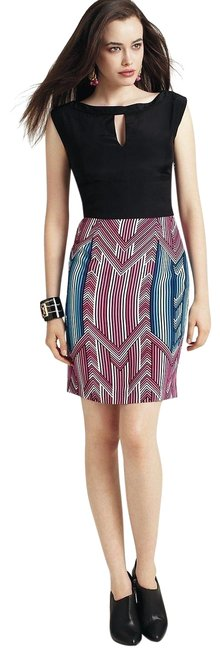 Item - Multicolor Silk Short Work/Office Dress Size 10 (M)
