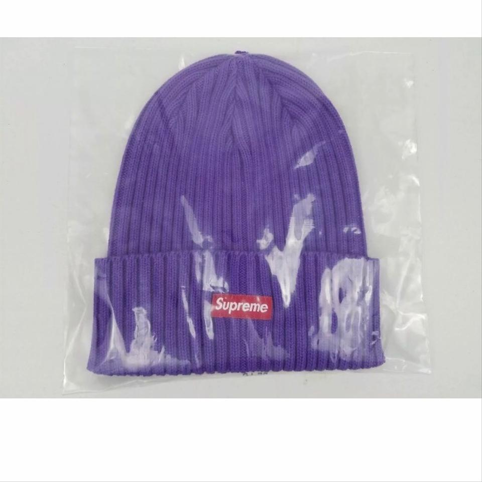 dc47861ded6 Supreme Purple Limited Edition Box Logo Ss19 Overdyed Beanie Hat ...