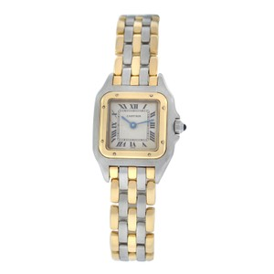 Cartier Ladies Cartier Panthere 22MM Steel 18K Yellow Gold Three Row Quartz