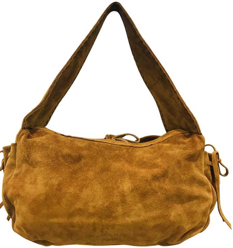 b7d85ce65 Prada Brown Suede Leather Hobo Bag - Tradesy