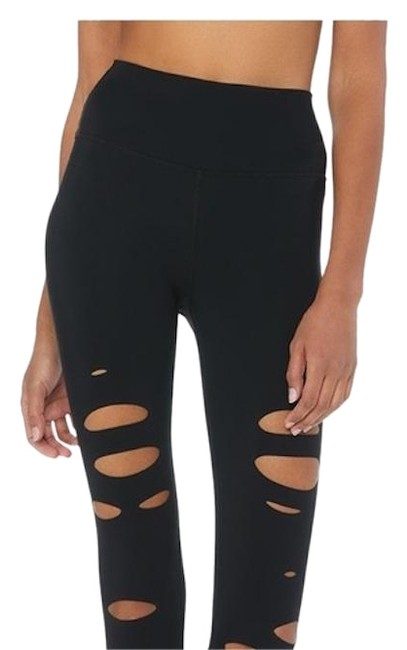 Preload https://item4.tradesy.com/images/alo-black-high-waist-ripped-warrior-activewear-bottoms-size-2-xs-26-24988088-0-2.jpg?width=400&height=650