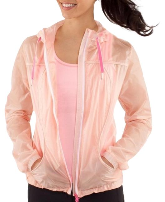 Item - Peach Windbreaker Activewear Outerwear Size 8 (M)