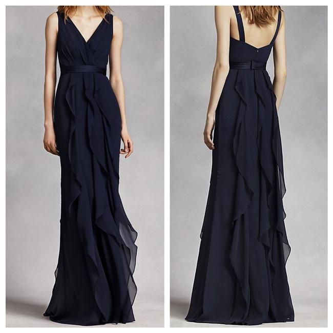 Vera Wang Bridal Midnight V Neck Wrap Gown With Cascading