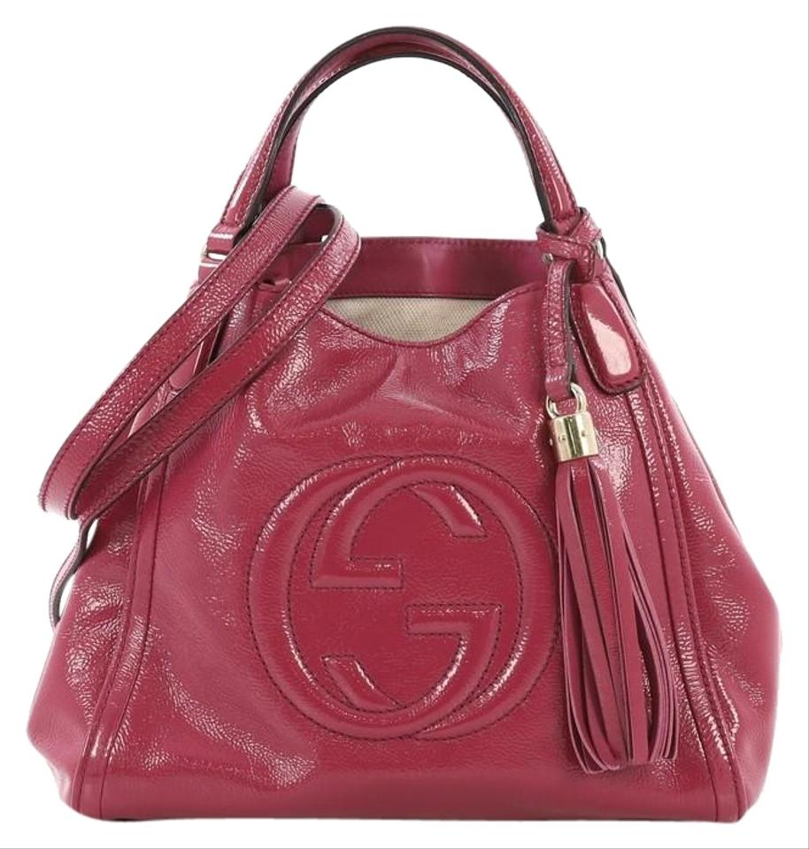 6c6d2cae7d4c Gucci Soho Convertible Small Pink Patent Leather Shoulder Bag - Tradesy
