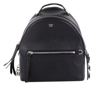 Fendi Leather Backpack Tote in black