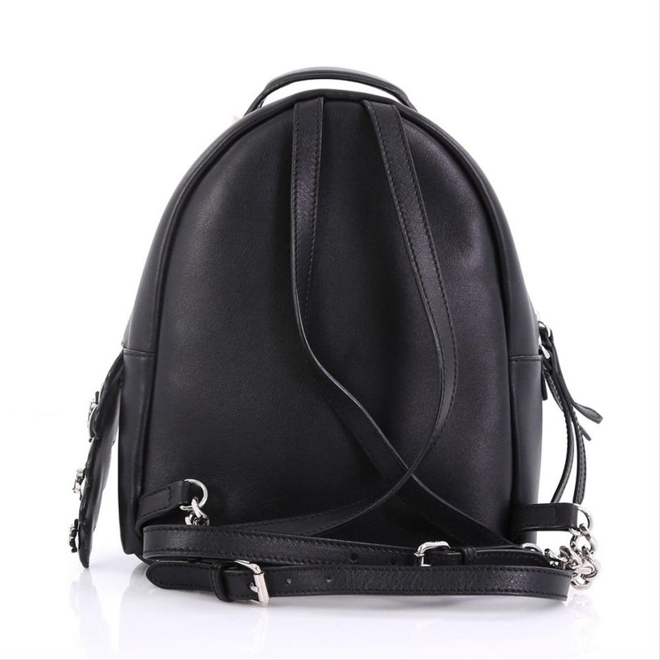 Fendi By The Way Backpack with Crystals Mini Black Leather Tote ... 4aa06330b4792