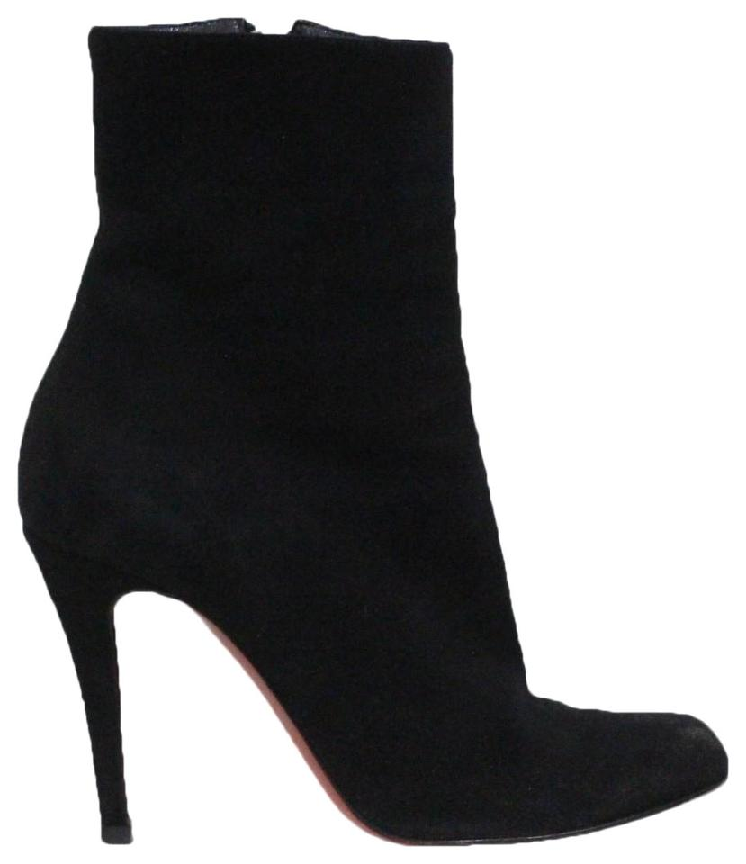 watch 9732b b5eb2 Christian Louboutin Black Decollete Suede Ankle Boots/Booties Size EU 37  (Approx. US 7) Regular (M, B) 60% off retail