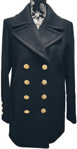 Chanel Caban Cashmere Wool Blend Pea Coat